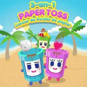 3-en-1 Paper Toss : Lancer de boules de papier